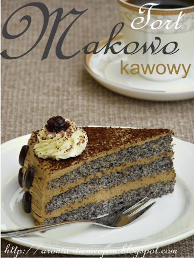 Zdjęcie - Tort makowo - kawowy - Przepisy kulinarne ze zdjęciami