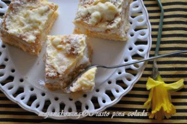 Zdjęcie - Ciasto Piña colada  - Przepisy kulinarne ze zdjęciami