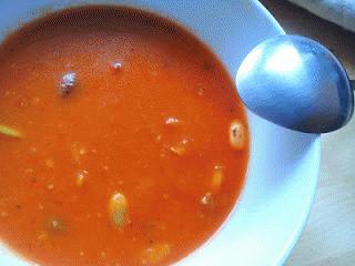 Zdjęcie - Gęsta, kremowa zupa pomidorowa - Przepisy kulinarne ze zdjęciami