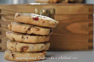 Zdjęcie - Ciasteczka z różą  - Przepisy kulinarne ze zdjęciami