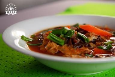 Zupa Z Suszonym Tofu Yuba I Grzybami Mun Zakrecony Wege Obiad