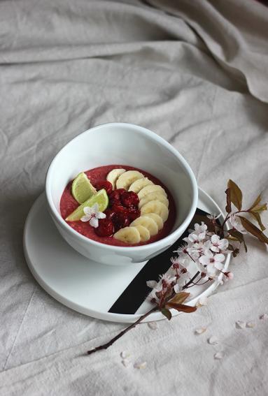 śniadanie Do łóżka 229 Wiśniowo Bananowy Budyń Jaglany