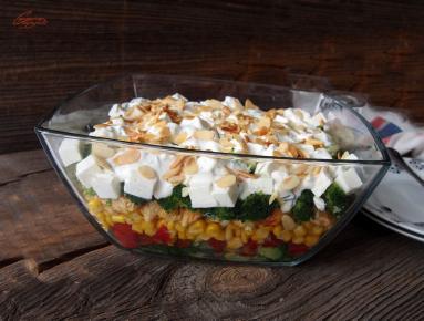 Przepis Warstwowa Salatka Z Brokulami Proste Przepisy