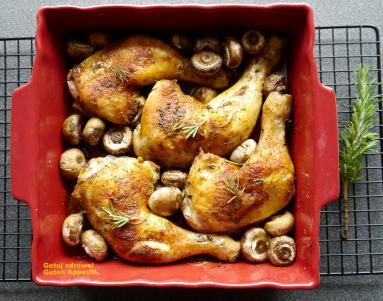 Chrupiace Udka Kurczaka Z Pieczarkami