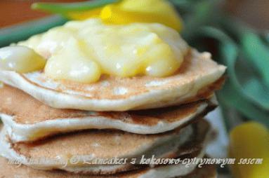 Przepis: Banana pancakes with lemon coconut curd - Proste ...