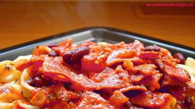 Zdjęcie - CHORIZO Z MAKARONEM - Przepisy kulinarne ze zdjęciami